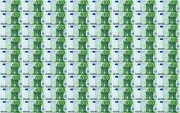 100张欧洲钞票无缝的背景 库存照片