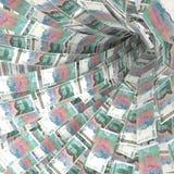 100张瑞典克朗票据金钱漩涡  库存图片