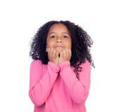 紧张的小女孩 免版税库存图片