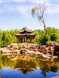 张的庄园公园场面庄园` s庭院 库存照片