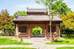 张的庄园公园场面庄园` s庭院 免版税库存图片