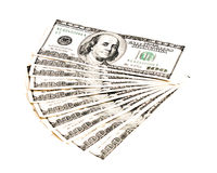 100张美元钞票堆  库存图片