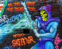 2张街道画墙壁 免版税库存图片