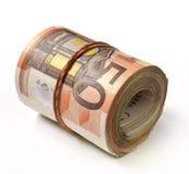 50张钞票欧元 库存照片