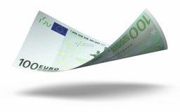 100张钞票欧元 免版税图库摄影