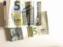 5张钞票欧元 免版税库存图片