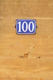 100张钞票片段编号 库存图片