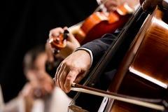 弦管弦乐队表现 库存照片