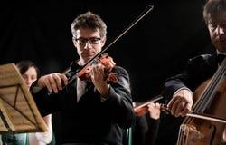弦管弦乐队表现 免版税库存照片