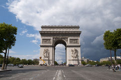 弧巴黎triomphe 免版税库存照片