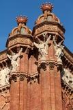 弧曲拱巴塞罗那de西班牙triomf胜利 库存照片