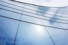 弧玻璃墙 免版税库存照片
