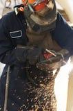 弧立场焊工 免版税库存照片