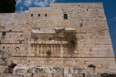 弧耶路撒冷犹太其次鲁宾逊寺庙 库存图片