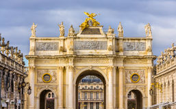 弧这里在斯坦尼斯拉斯广场在南希-法国 免版税库存图片