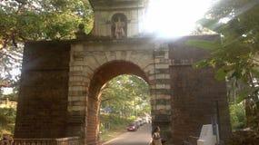 弧总督,果阿旧城(印度) 免版税库存照片