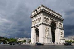 弧巴黎triomphe 免版税库存图片