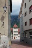 弧d胜利视图 圣莫里斯,瑞士 库存照片