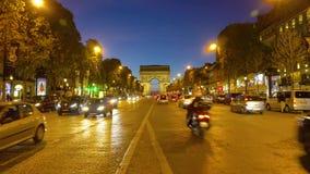弧de法国巴黎triomphe 股票视频