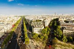 弧de巴黎triomphe视图 图库摄影