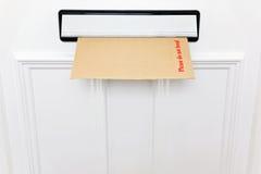 弯执行信包letterbox没有喜欢 库存图片