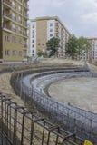 弯曲保留混凝土墙2 图库摄影