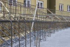 弯曲保留混凝土墙4 免版税库存图片