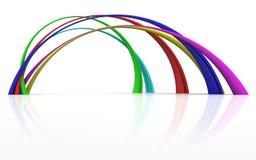 弯曲彩虹 向量例证