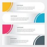 弯曲横幅样式黄色,蓝色,桃红色颜色 免版税库存图片