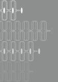 弯曲灰色减速火箭的白色 库存照片