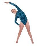 弯曲的体操运动员端 库存图片