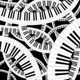 弯曲的关键董事会钢琴 免版税库存图片