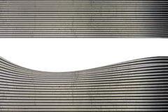 弯曲的印象深刻的金属表面 图库摄影