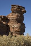 弯曲的堆岩石 免版税库存照片