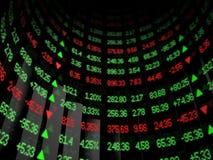 弯曲的市场证券报价机 免版税库存图片