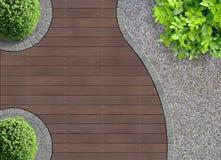 弯曲的庭院细节 免版税库存图片