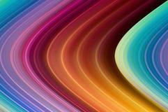 弯曲的彩虹颜色 库存照片