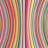 弯曲的抽象派彩虹排行颜色背景 免版税库存图片