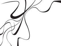 弯曲的摘要挥动黑白的背景 库存例证