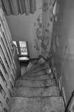 弯曲的木楼梯 免版税库存图片