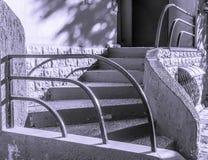 弯曲的楼梯在Kharrkiv 库存图片