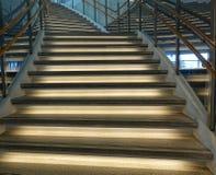 弯曲的楼梯 免版税库存图片