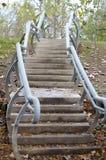 弯曲的楼梯 免版税库存照片