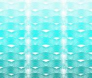弯曲的波动图式 库存例证