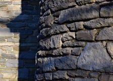 弯曲的石墙 图库摄影
