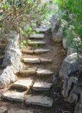 弯曲的石楼梯 图库摄影