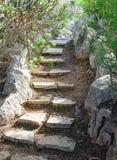 弯曲的石楼梯 库存照片