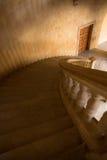弯曲的石楼梯 库存图片