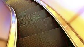 弯曲的自动扶梯 库存照片