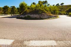 弯曲的街道 免版税库存图片